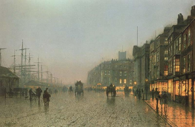 Atkinson Grimshaw Liverpoool from Wapping