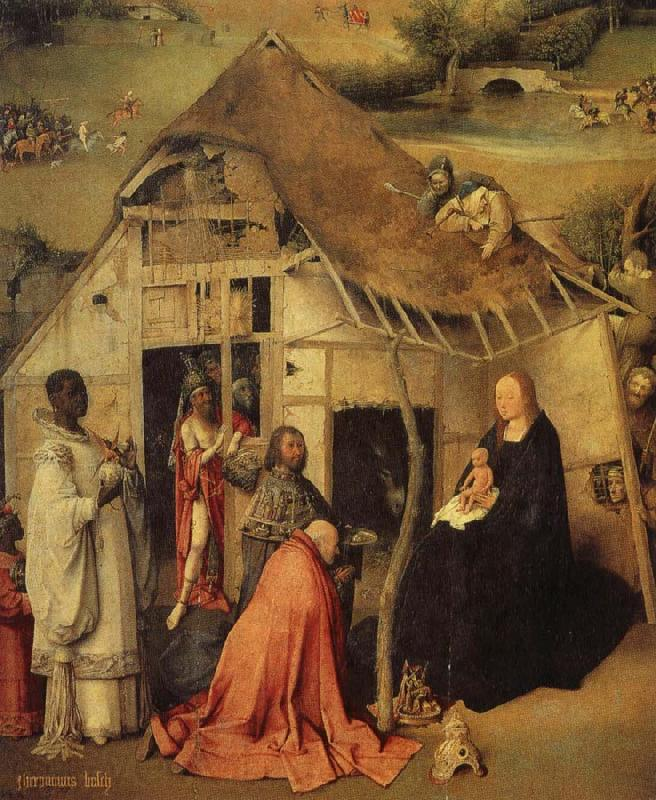 BOSCH, Hieronymus The adoration of the three Kings