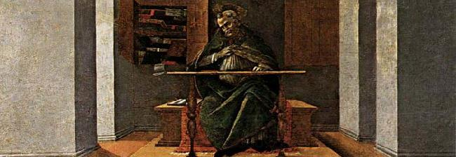 BOTTICELLI, Sandro St Augustine in His Cell