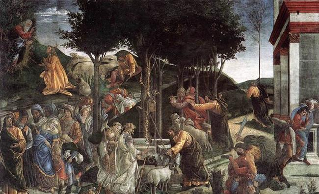 BOTTICELLI, Sandro Scenes from the Life of Moses