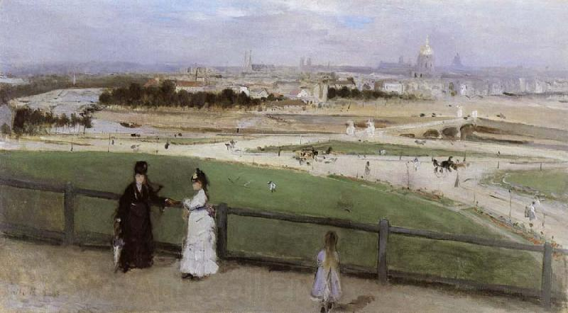 Berthe Morisot Face on Paris from Trocadero