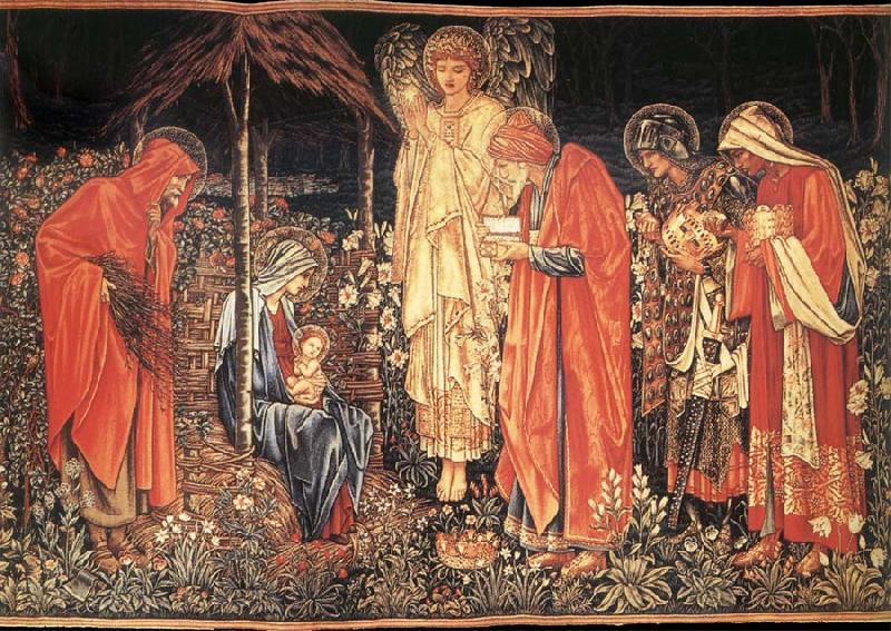 Burne-Jones, Sir Edward Coley The adoracion of the three Kings