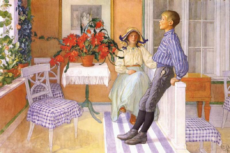 Carl Larsson Brother and Sister