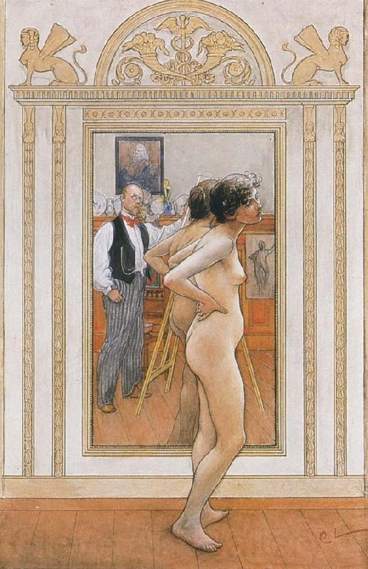 Carl Larsson In front of the Mirror