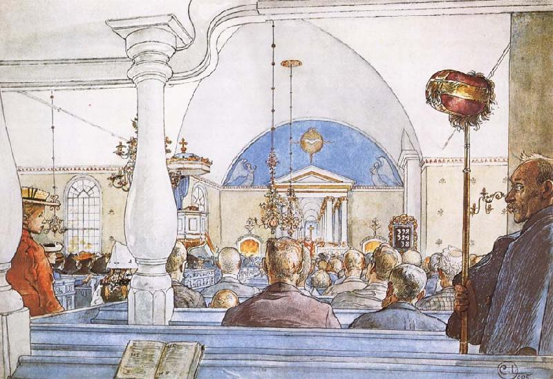 Carl Larsson At Church