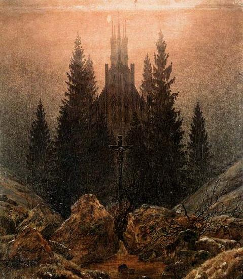 Caspar David Friedrich The Cross in the Mountains