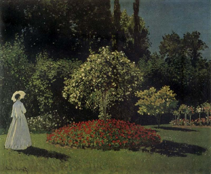 Claude Monet Lady in the Garden