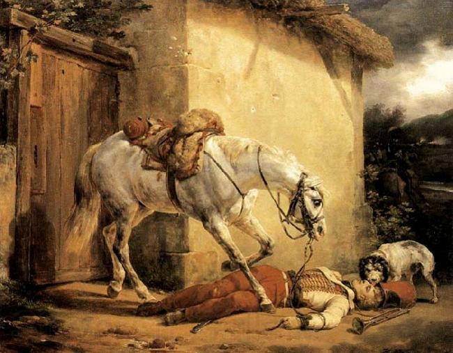Claude-joseph Vernet The Wounded Trumpeter