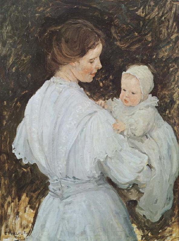 E.Phillips Fox Mother and child