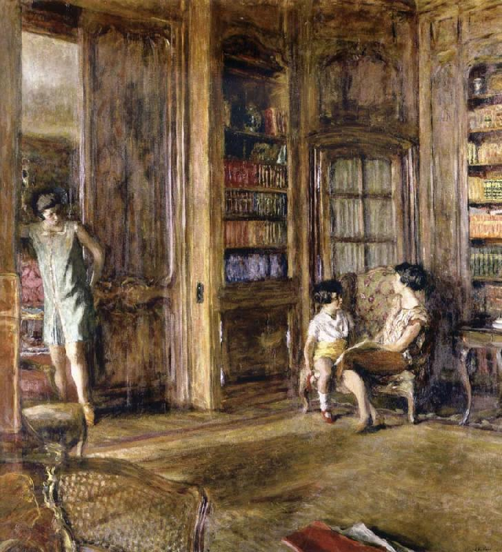 Edouard Vuillard In the Library