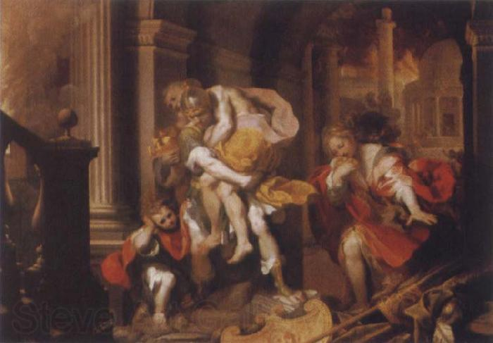 Federico Barocci The Flight of Troy