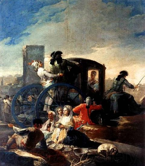 Francisco de goya y Lucientes The Crockery Vendor
