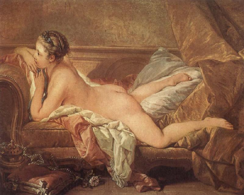 Francois Boucher Reclining Girl