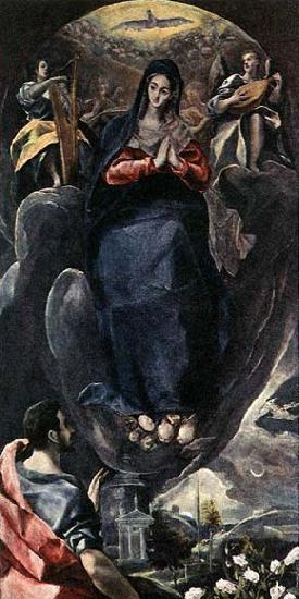 GRECO, El The Virgin of the Immaculate Conception and St John