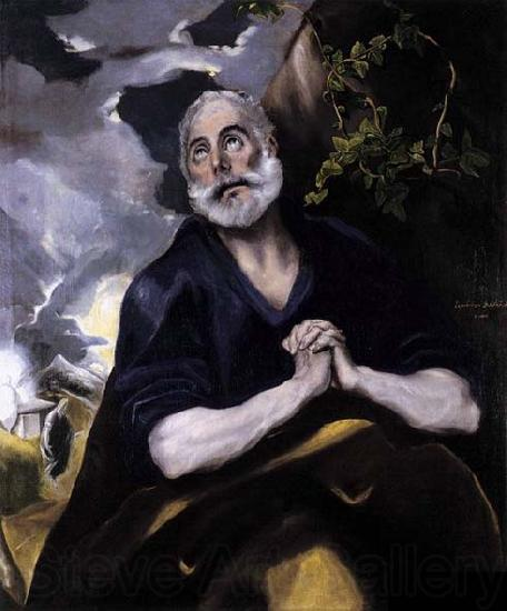 GRECO, El St Peter in Penitence