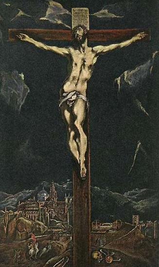 GRECO, El Christ in Agony on the Cross