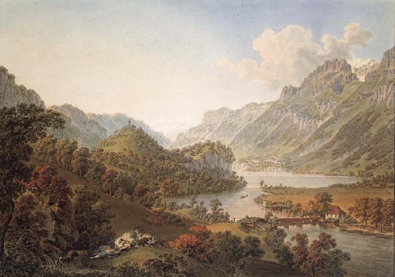 Gabriel Lory Pere Gone out of THE Aar of the Lake of Brienz