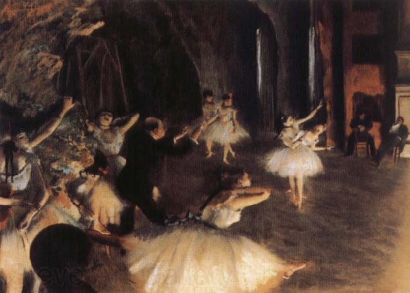 Germain Hilaire Edgard Degas The Rehearsal of the Ballet on Stage