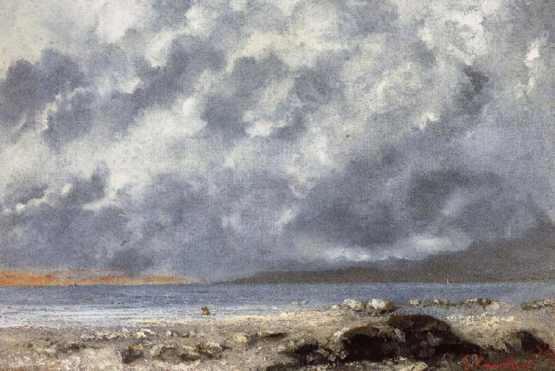 Gustave Courbet Beach Scene
