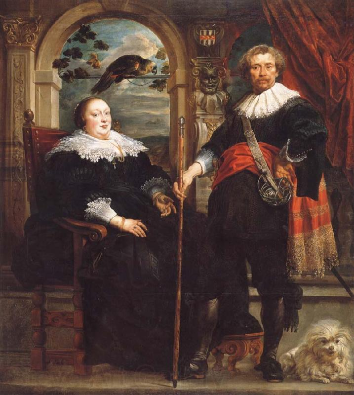 Jacob Jordaens Portrait of Govaert van Surpele and his wife
