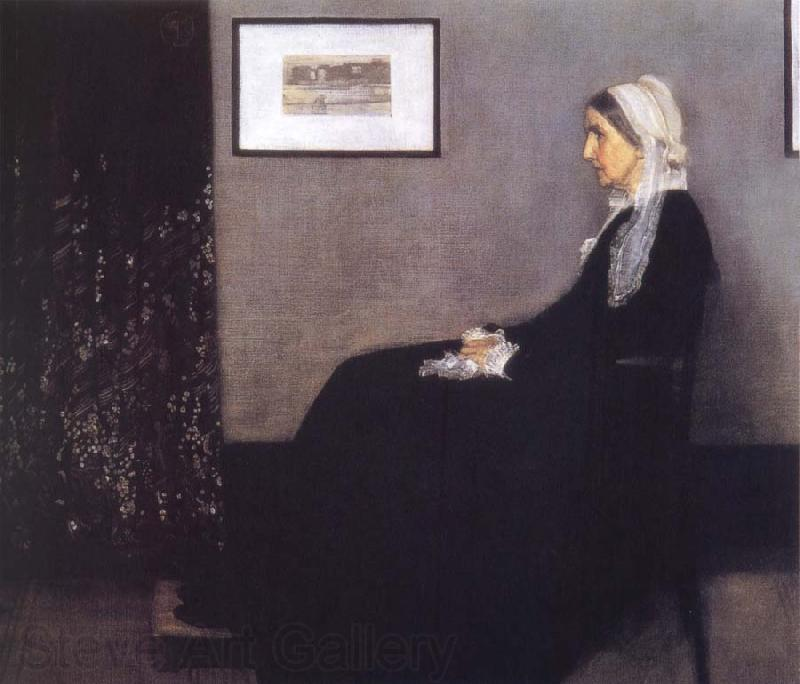 James Abbott McNeil Whistler Arrangement in Grey and Black Nr.1 or Portrait of the Artist-s Mother