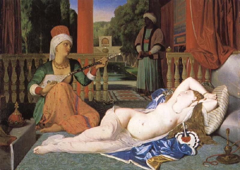 Jean-Auguste Dominique Ingres Odalisk with slave