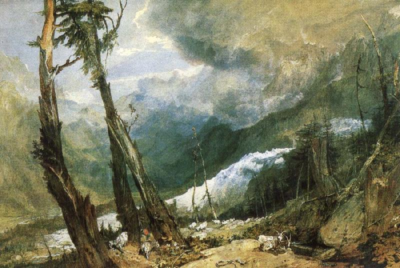 Joseph Mallord William Turner Glacier and source of the Avyron, Chamonix