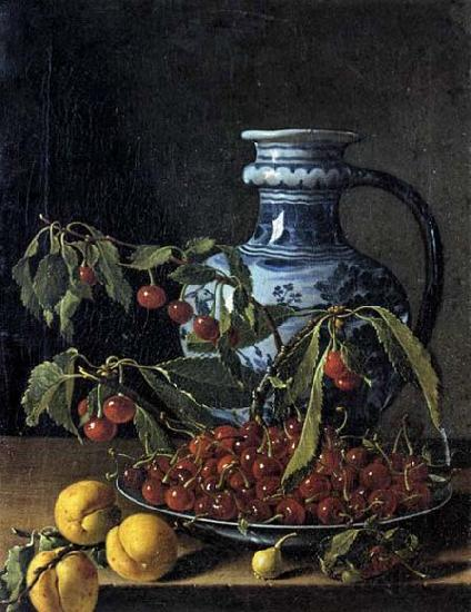 MELeNDEZ, Luis Still-Life with Fruit and a Jar