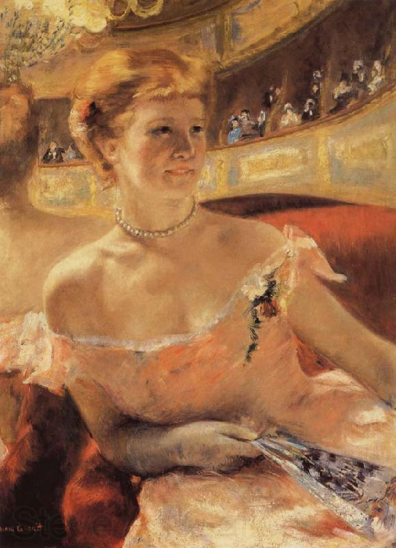Mary Cassatt Woman with a Pearl Necklace in a Loge for an impressionist exhibition in 1879