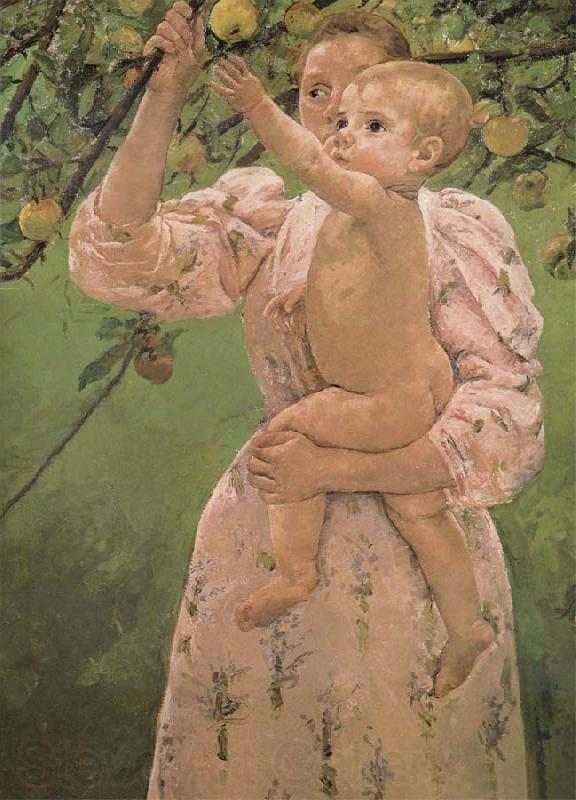 Mary Cassatt Drinks trying to reach an apple