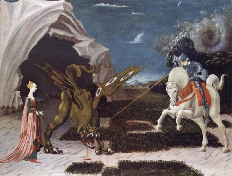 Paolo Ucello Saint George,the Princess and the Dragon