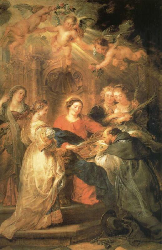 Peter Paul Rubens Aparicion of Maria to San IIdefonso
