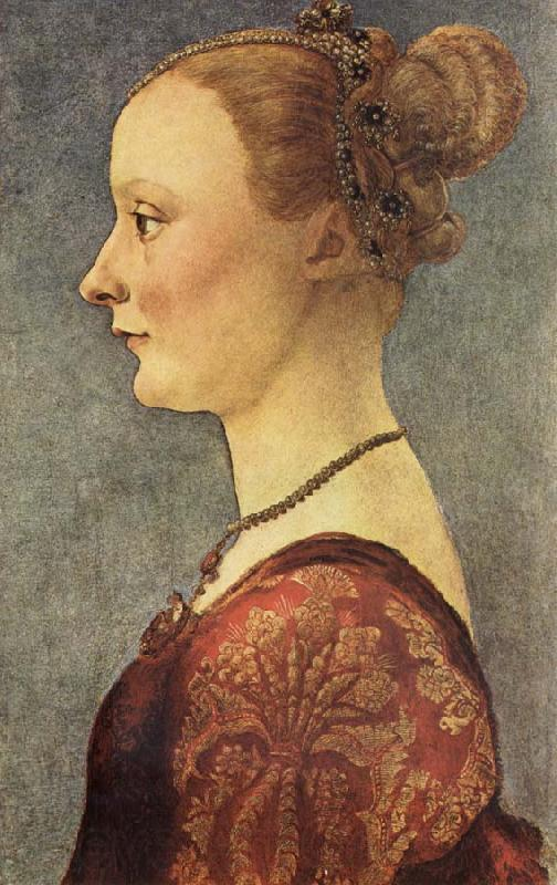 Pollaiuolo, Piero Portrait of a Young Lady