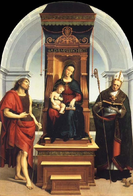 Raphael The Madonna and Child Enthroned with Saint John the Baptist and Saint Nicholas of Bari