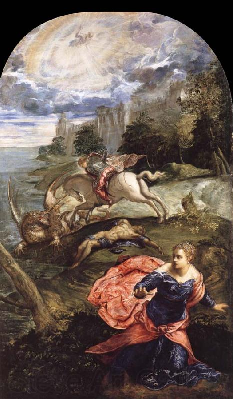 TINTORETTO, Jacopo Saint George,The Princess and the Dragon