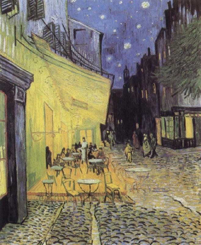 Vincent Van Gogh Cafe Tarrasse by night