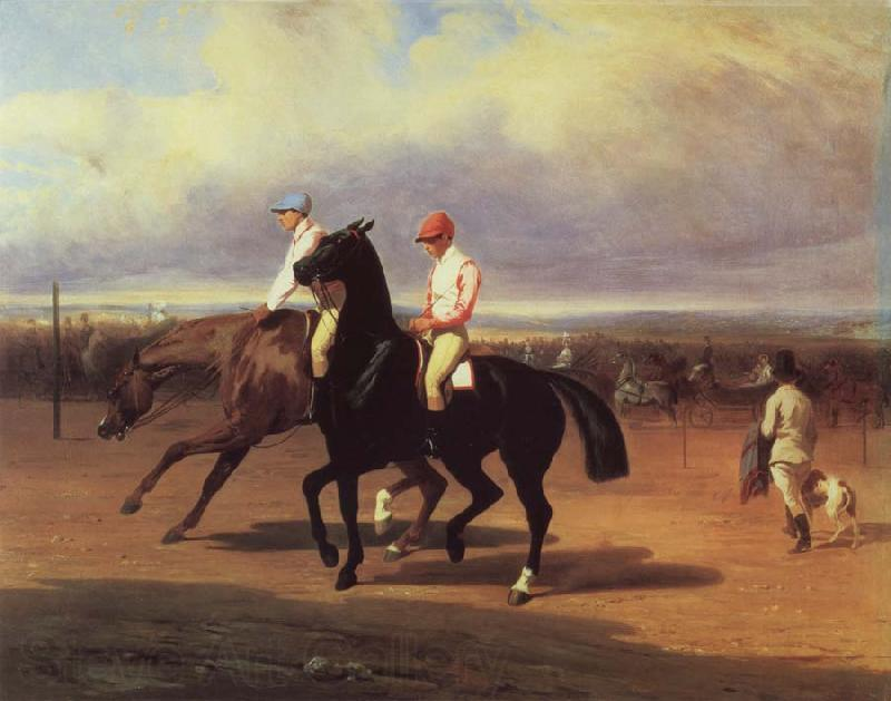 Alfred Dedreux Oil undated before the race
