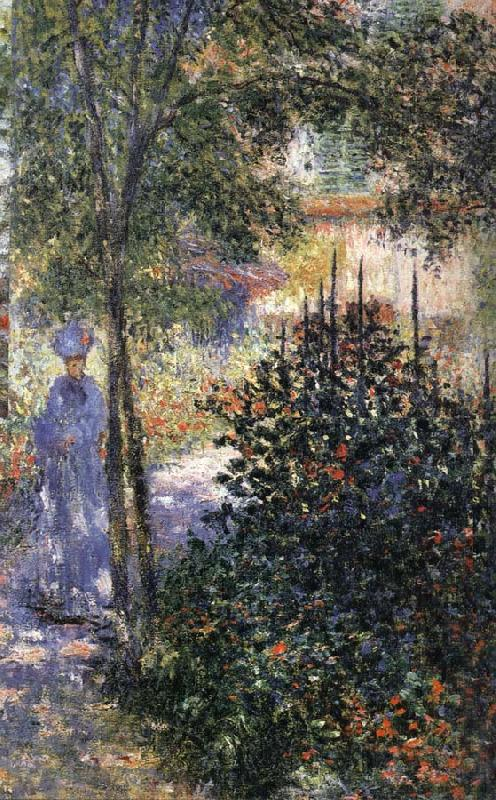 Claude Monet Blue Shadows Camille in the Garden at Argenteuil