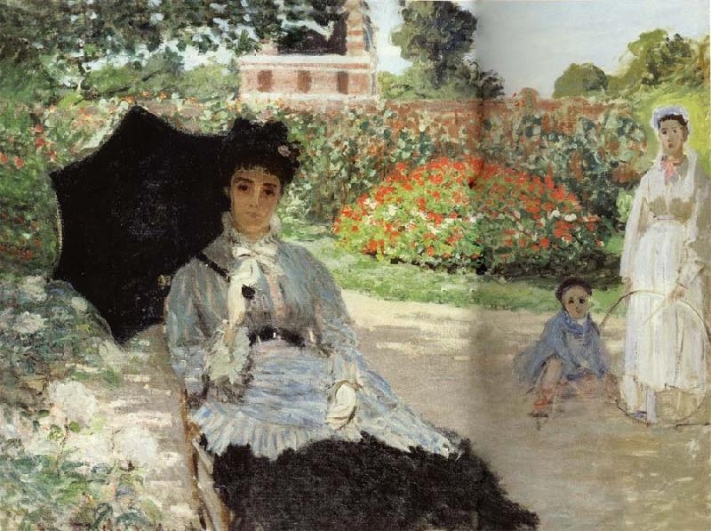 Claude Monet Camille in the Garden with Jean and his Nanny