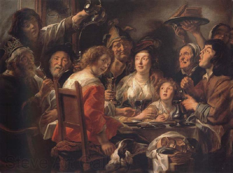 Jacob Jordaens The Konig drinks