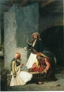 unknow artist Arab or Arabic people and life. Orientalism oil paintings 36