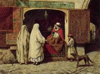 unknow artist Arab or Arabic people and life. Orientalism oil paintings 138