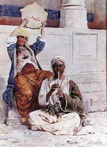 unknow artist Arab or Arabic people and life. Orientalism oil paintings  276