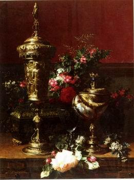 unknow artist Floral, beautiful classical still life of flowers.056