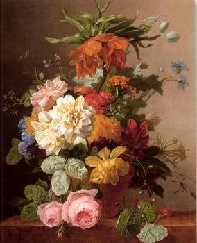unknow artist Floral, beautiful classical still life of flowers.088