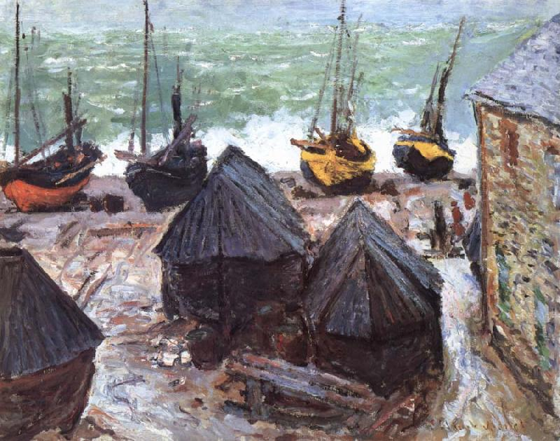 Claude Monet Boats on the Beach