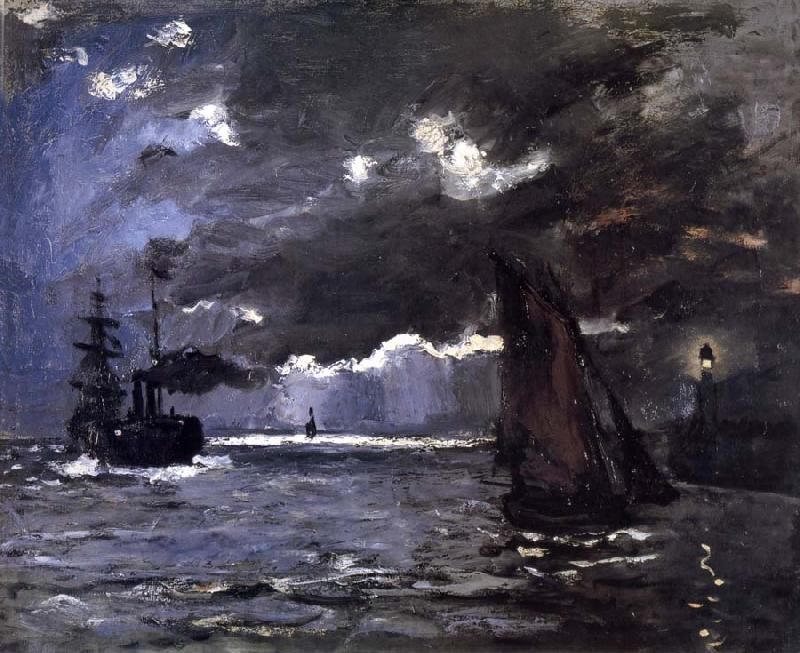 Claude Monet A Seascape,Shipping by Moonlight