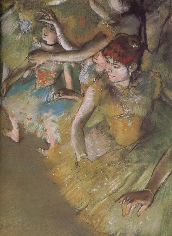 Edgar Degas ballerina  on the stage