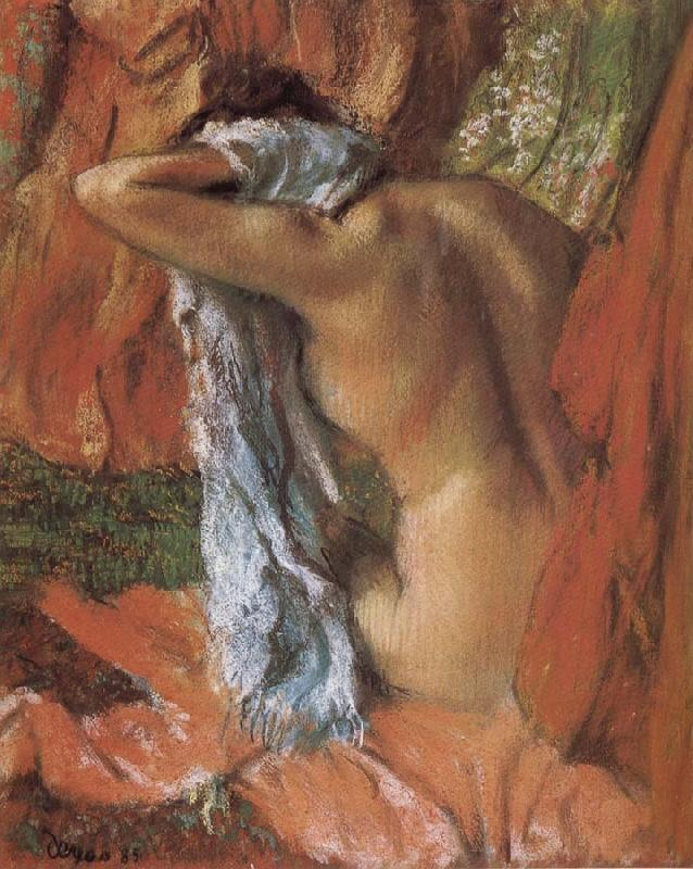 Edgar Degas bathing lady
