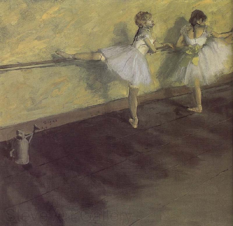 Edgar Degas ballerina being practising
